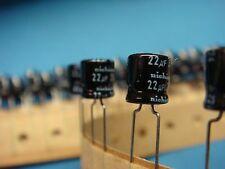 25) NICHICON USA1V220MCA 22uF 35V 85° RADIAL ALUMINUM ELECTROLYTIC CAPACITOR