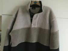 "REDUCED ""MELKA"" Menswear Faux Woolly  Jumper Shades of Grey Size Large"