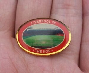 LIVERPOOL FC THE KOP VINTAGE OVAL PIN BADGE VGC