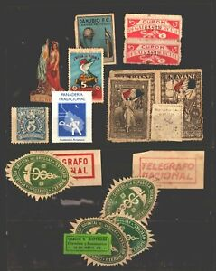 Uruguay lot of cinderella poster stamps official seals very old to modern Unicef