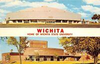 Wichita Kansas 1960s Postcard Wichita State University Field House