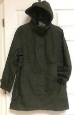 Kirkland Signature, Women's Hooded Trench/Raincoat, Large, Olive Green, NWT