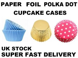 Quality Paper Cupcake Cases DOT - Muffin Baking Cup Cake 20 25 50 FAST DELIVERY