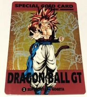 Carte dragon ball Gt Fancard Gold Reverse Prism Laser Holo 1 Super Battle card