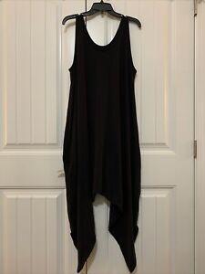 AnyBody Petite Cozy Knit Romper - Black - Petite XLarge