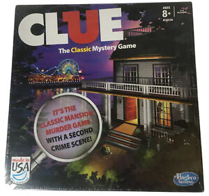 Clue Board Game Edition W/2 Versions Classic Mansion Game And Boardwalk