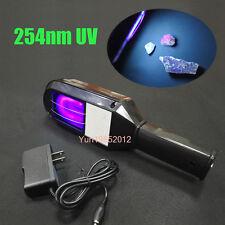 8 Watt Handheld Fluorescent Minerals SW Rechargeable Shortwave UV Lamp w/ Filter