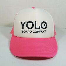 Cobra Yolo Board Company Baseball Trucker Cap Hat Snapback Adjustable Pink