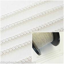 1 ft (environ 0.30 m) Argent Sterling 3x2.5mm continu Curb Chaîne Pour Fabrication de Bijoux