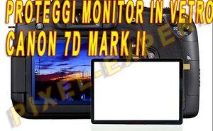 PROTEZIONE DISPLAY FOTOCAMERA PER CANON EOS 7D MARK II 7DII PROTEGGI SCREEN