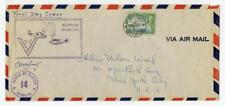 Bermuda 1941, Violet Censor 14. First Day Cover 71/2d to New York with Cachet