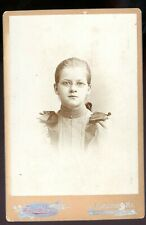cabinet card-Lewiston, Maine-Flagg & Plummer Studio-young girl with glasses