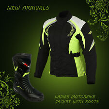 Ladies Motorbike Jacket Shoes Waterproof Motorcycle Womens Leather Shoes Coat