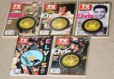 Vintage lot-five (5) TV GUIDE Elvis Presley July 4-10 2004/May 8-14. Sealed CDs