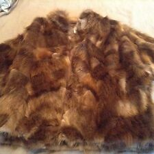 Vintage Real Genuine Fur Beaver Coat Jacket Size M