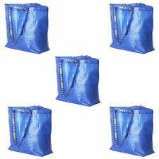 Lot of 5 IKEA Medium Reusable Eco Bags Shopping Laundry Tote Travel Bag FRAKTA