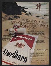 1970 MARLBORO Cigarettes Offer - Beach Towel & Bag & Radio VINTAGE ADVERTISEMENT