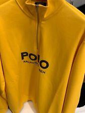 New listing NWT Polo Ralph Lauren Big & Tall YELLOW LOGO 1/4 Zip Pullover Sweatshirt 3XB
