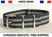 18MM ★ NATO Bracelet Montre Chronograph Watch Band Strap Nylon Military Army 007