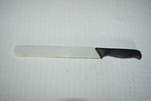 "PAMPERED CHEF SERRATED BREAD KNIFE 9"" Stainless Steel with Cover #1285 a"