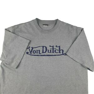Von Dutch Double Sided Spell Out T Shirt Large/XL