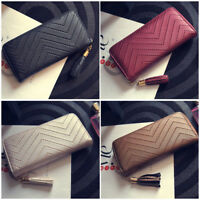Women Leather Clutch Wallet Long PU Card Holder Lady Purse Handbag Envelope Bag