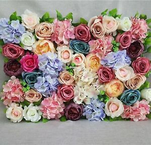 40X60cm Artificial Silk Rose Peony  Flower Wall Decoration Decorative Silk