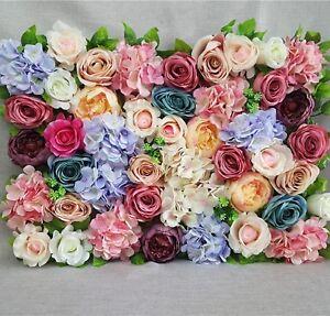 40X60cm Artificial Silk Rose Peony  Flower Wall Decoration Decorative Silk