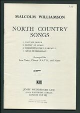 Music Book, North Country Songs, Malcolm Williamson, for Low Voice, Satb, piano