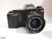 Canon T50 SLR Kamera + FD 35-70mm 1:3,5-4,5 Macro Zoom-Objektiv (Ø52mm) lens