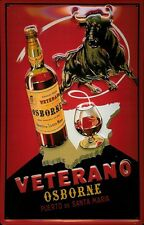 Osborne Veterano Stier Blechschild Schild 3D geprägt gewölbt Tin Sign 20 x 30 cm