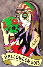 """HRC HOLLYWOOD TNT 2013 HALLOWEEN Sugar Skull Girl PIN """"Thursday Night Traders"""""""