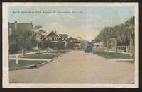 Postcard ST PETERSBURG Florida/FL  Beach Drive Family Houses/Homes view 1910's