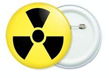 Radioactive Sign button pin badge