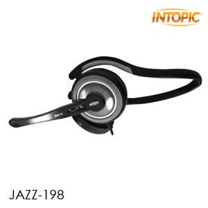Intopic Jazz-198 Premium Wrap-around Headphone Mic Headset