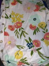 New listing Cloud Island Plush Changing Pad Cover Floral Gold Dots Baby Girl
