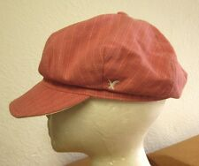 AMERICAN EAGLE OUTFITTERS women's cabbie hat Gatsby pin-stripes pink cap newsboy