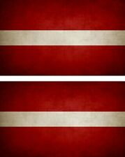 2x Sticker Flag Vintage Distressed LV Latvia