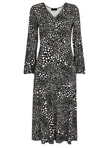 Brand New Ladies Ex Wallis Multi Coloured Pebble Animal Jersey Dress
