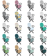 Ambesonne Abstract Layout Office Chair Slipcover Protective Stretch Cover