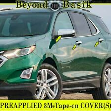 2018-2019 Chevy Equinox GMC Terrain CHROME Door Handle Covers W/4HL+Mirrors
