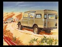 LAND ROVER 1954 SERIES-I '107' RETRO POSTER PRINT CLASSIC ADVERT A3 !!