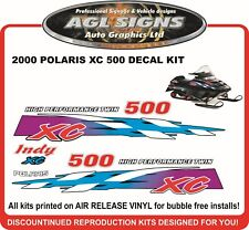 2000 POLARIS INDY XC 500 Reproduction Hood graphics  shroud