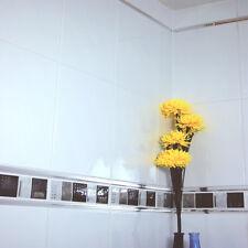 33x25cm Bumpy White Gloss Ceramic Bathroom Wall Tiles (1 SQM = 12Tiles)
