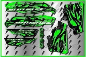 Yamaha banshee full graphics kit green...THICK AND HIGH GLOSS