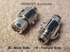 Two NEW N Connector Coaxial Inline Lightning Static Discharge Arrestor HAM Radio
