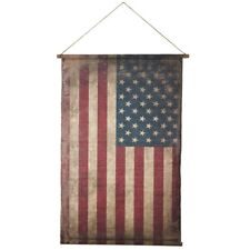 American Flag Distressed on Canvas by Midwest CBK  33x49