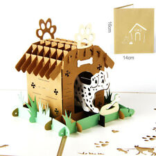 3d Pop Up Postcards For Birthday Laser Cut Greeting Cards Pet Dog Animal Gift -D