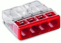 100 x Wago borne de connexion type 2273-204 rouge 4 x 0,5 -2, 5 mm ²