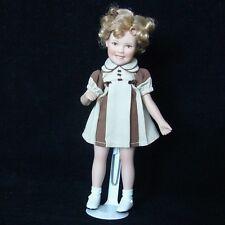 "Shirley Temple 8"" Poor Little Rich Girl Movie Memories Danbury Mint Doll"